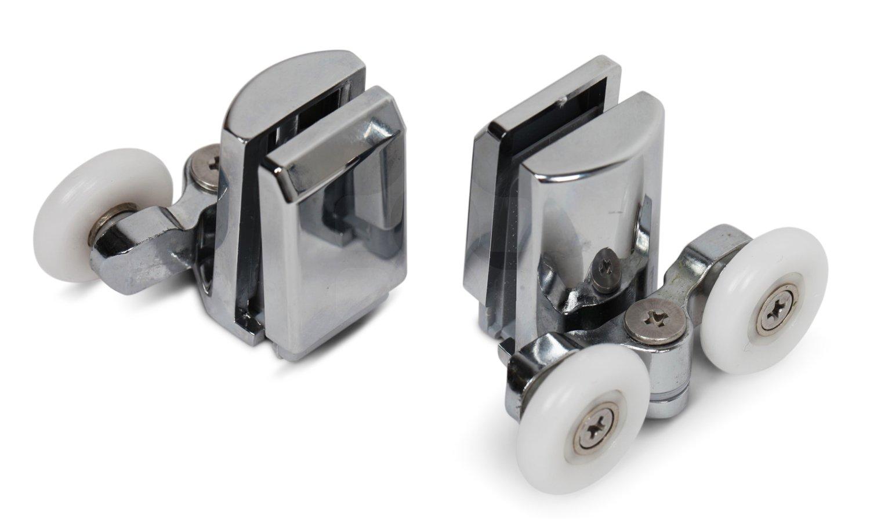 Kenley Stainless Steel Shower Door Twin Rollers Runners   Set Of 4   Top U0026  Bottom: Amazon.co.uk: DIY U0026 Tools