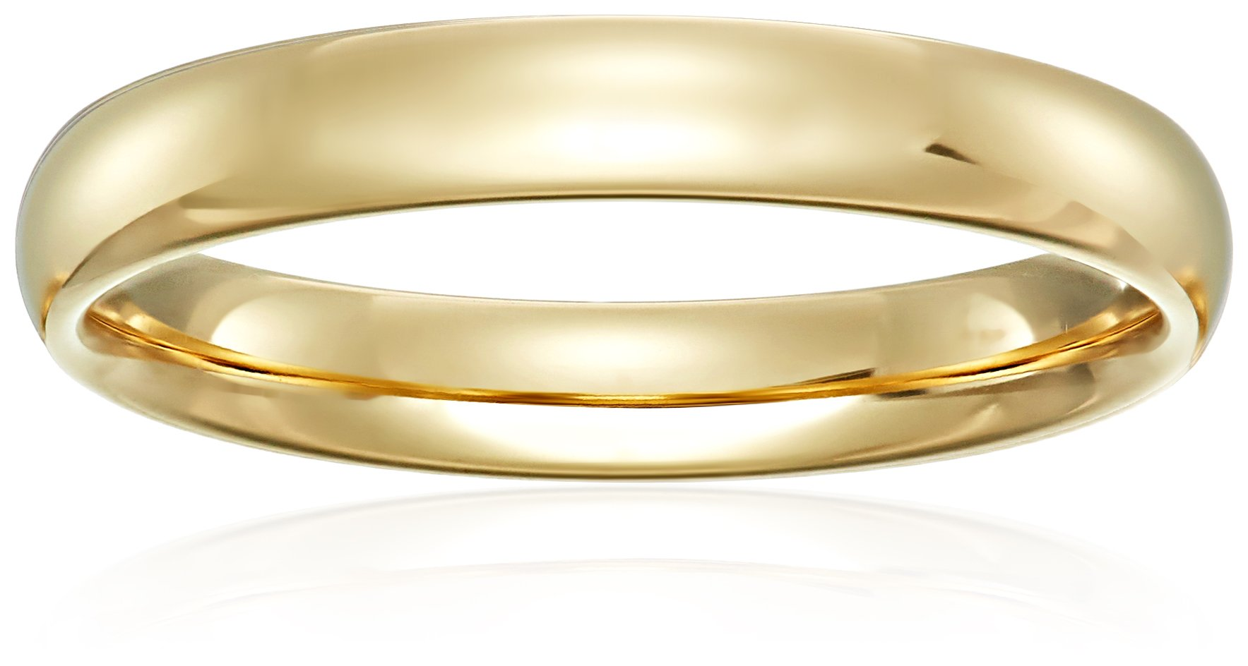 Standard Comfort-Fit 18K Yellow Gold Band, 4mm, Size 8