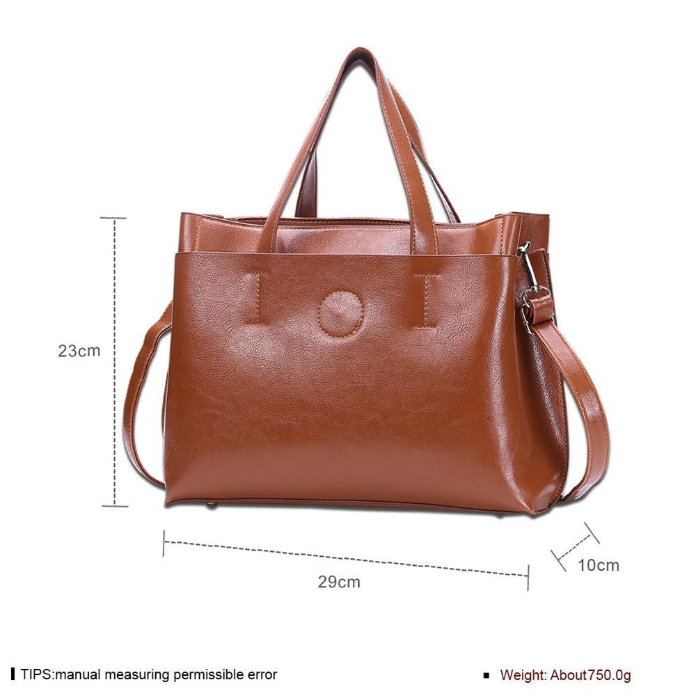 Damen-Mode-Handtasche Satchel Schwarz , Braun