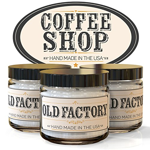ffee Shop - Set of 3: Coffee Bean, Hazelnut, and Chai Tea - 3 x 4-Ounce Soy Candles - Each Votive Candle is Handmade in the USA with only the Best Fragrance Oils (Do 5 Candle)