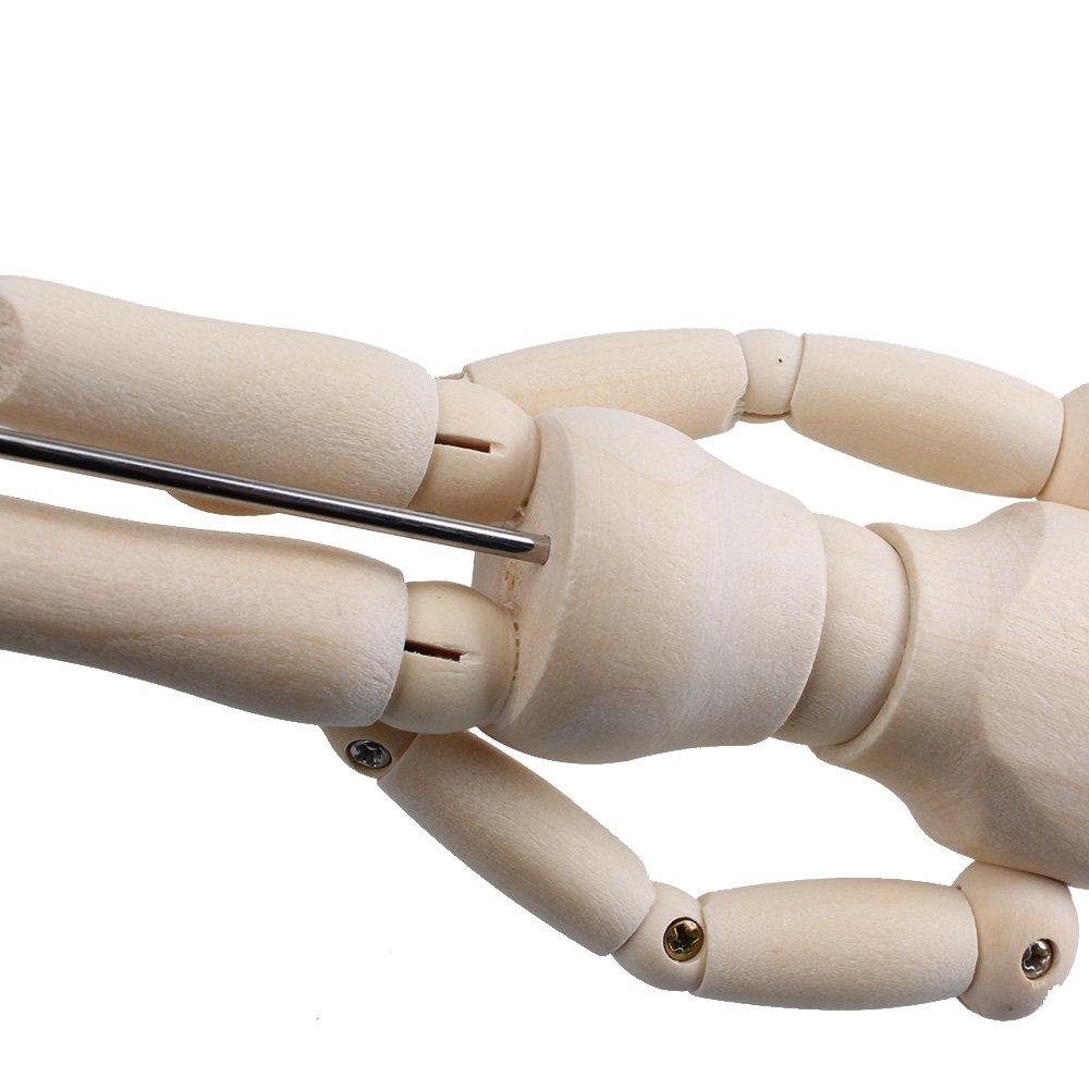 Maniqu/í articulado de artista de dibujo de artista de madera de 4.7 con base y cuerpo flexible