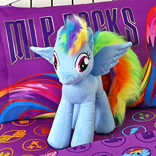 My Little Pony Pillow Buddy Rainbow Dash Large Plush]()