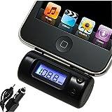 Trasmettitore radio FM e caricatore auto per iPhone 3G 3Gs 4 4S, iPod Touch 2° generazione