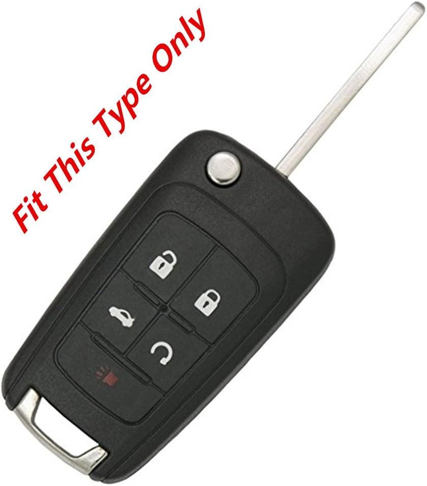 KAWIHEN Silicone Keyless Entry Case Cover Smart Remote Key Fob Cover Protector For Chevrolet Camaro Cruze Equinox Impala Malibu Sonic OHT01060512 KR55WK50073(Orange)