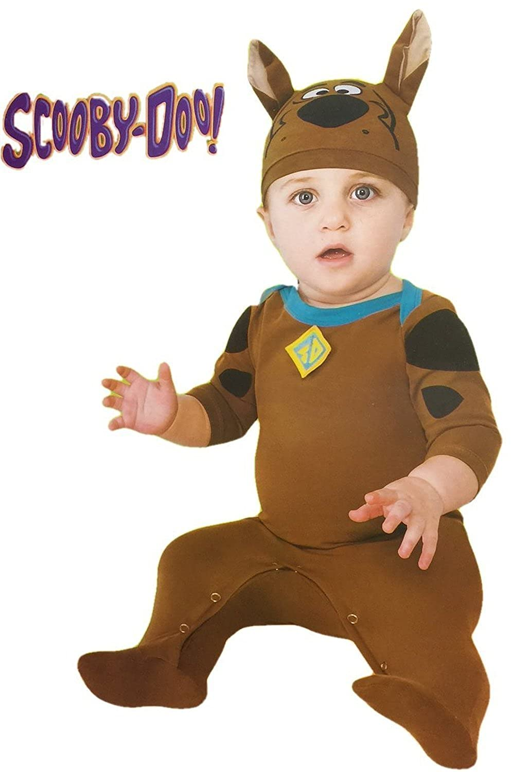 13e5c405a391 Amazon.com  Scooby-doo Romper with Collar and Hat Costumn (6-12 Mo)   Clothing