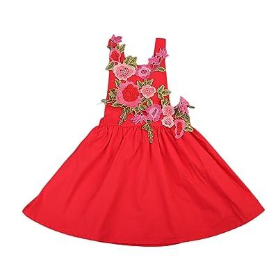 Emmababy Children's Dresses Infant Baby Girl Flower Backless Halter Tutu Party Dress