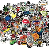 Laptop Stickers 207pcs, Car Stickers Waterproofing Vinyl Stickers 3D Stereo Feeling Stickers for Motorcycle Bicycle Luggage Decal Graffiti Patches Skateboard Stickers for Laptop -Random Sticker Pack