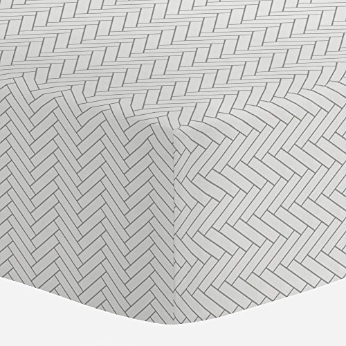 Carousel Designs White and Cloud Gray Classic Herringbone Cr