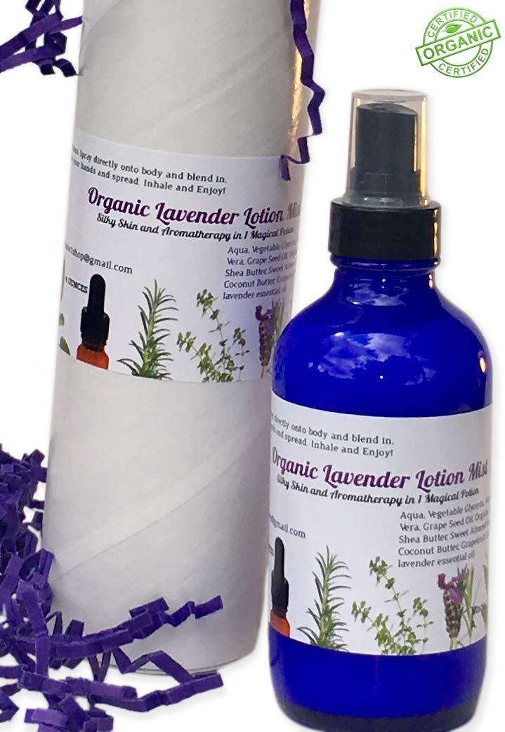 Amazon com : Organic Lavender Lotion Mist Spray, Intense