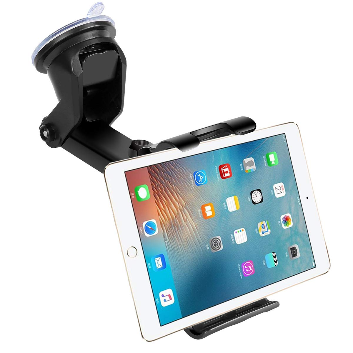 """Car Dashboard Windshield Tablet Mount, 7""""-10.5"""" Tablet Holder, 4.5""""-6.5"""" Phone Mount, Compatible iPad Pro 10.5/Air/Mini/iPhone Xs/XS MAX/XR/X/8/8Plus/7/7Plus, Galaxy S7/S8/S9, Google, Huawei etc"""