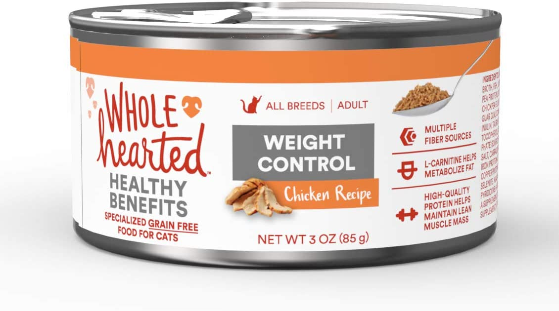 WholeHearted Weight Control Chicken Recipe Adult Wet Cat, 3 oz., Case of 24, 24 X 3 OZ