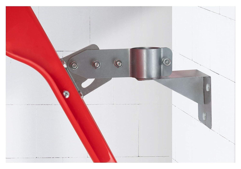 Espejo convexo para tr/áfico 60 cm, campo de visi/ón de 130/°, 2 soportes para montaje en pared y tubo, para interiores y exteriores Stagecaptain MC-60 Mirrcon color rojo