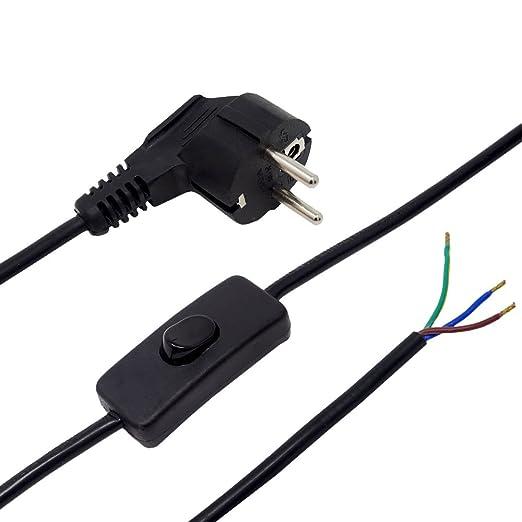 pie m para de de 3 Cable conexión mesa de lámparas o ARLcS435jq