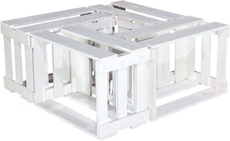 Vintage-Möbel24 GmbH - Juego de 6 Cajas de Vino Blancas - Caja de ...