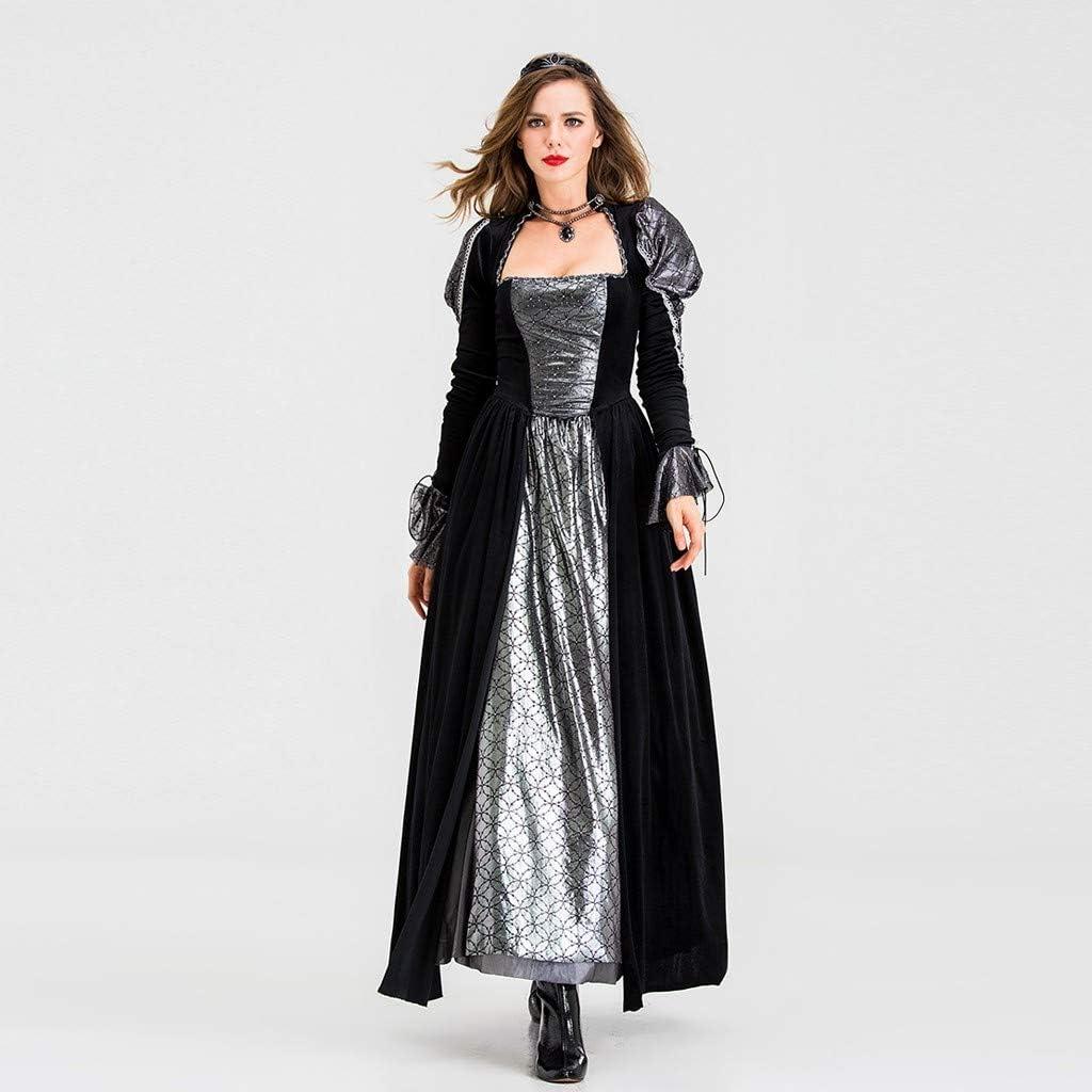 Goosun Vestido Largo Medieval Vintage para Mujer Manga Victoriana ...