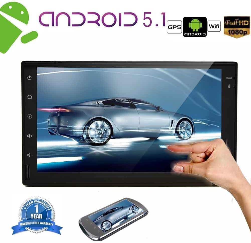 EinCar Android 5.1.1 Lollipop 2 Din Car Stereo with Quad Core 7 Capacitive Touch Screen GPS Navigation AM FM Radio Audio Receiver Support ...