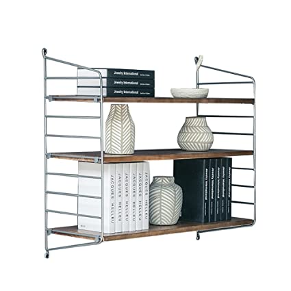 Amazoncom Lqqgxloffice Furniture Wall Shelf Wrought Iron Solid