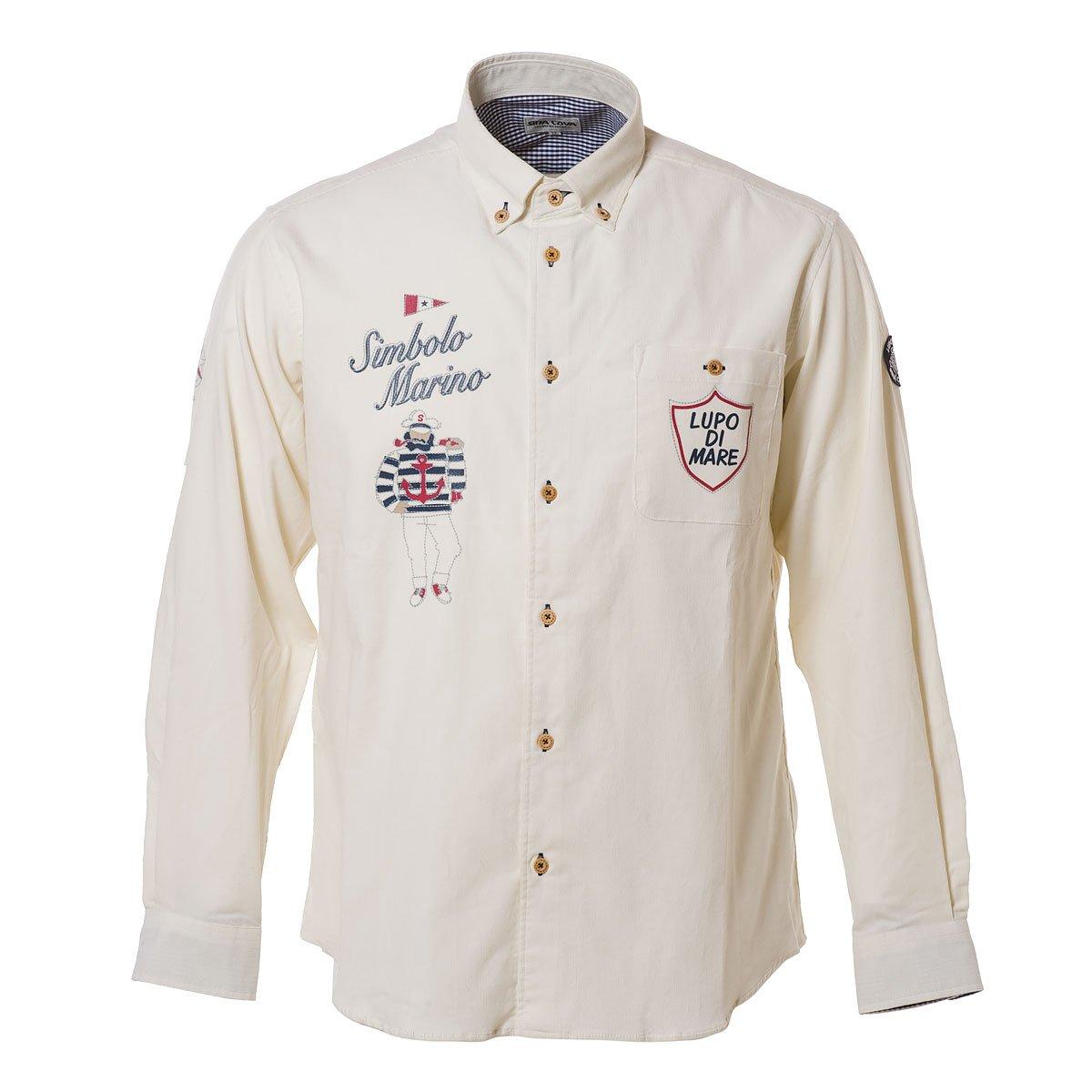SINA COVA SINACOVA Men's Long Sleeve Shirt Off-White Large