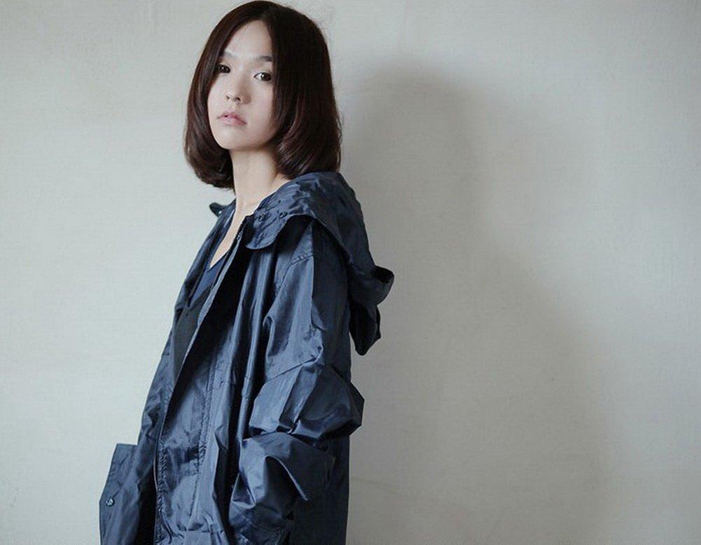 Dopobo - Poncho para lluvia impermeable, moderno y elegante, con capucha, chaqueta impermeable, lluvia para mujer, de secado rápido, 07 verde f072e1
