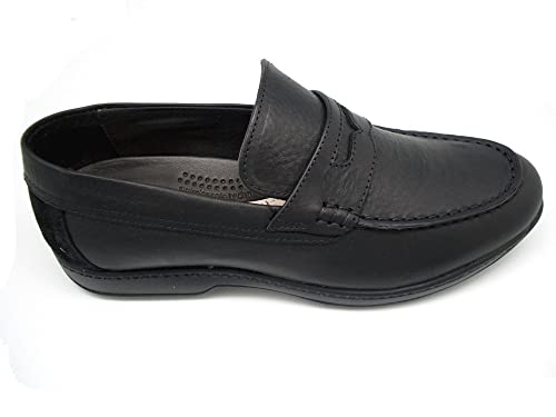 Swissies - Andy - Mocasines para Hombre - Color : Negro (43)