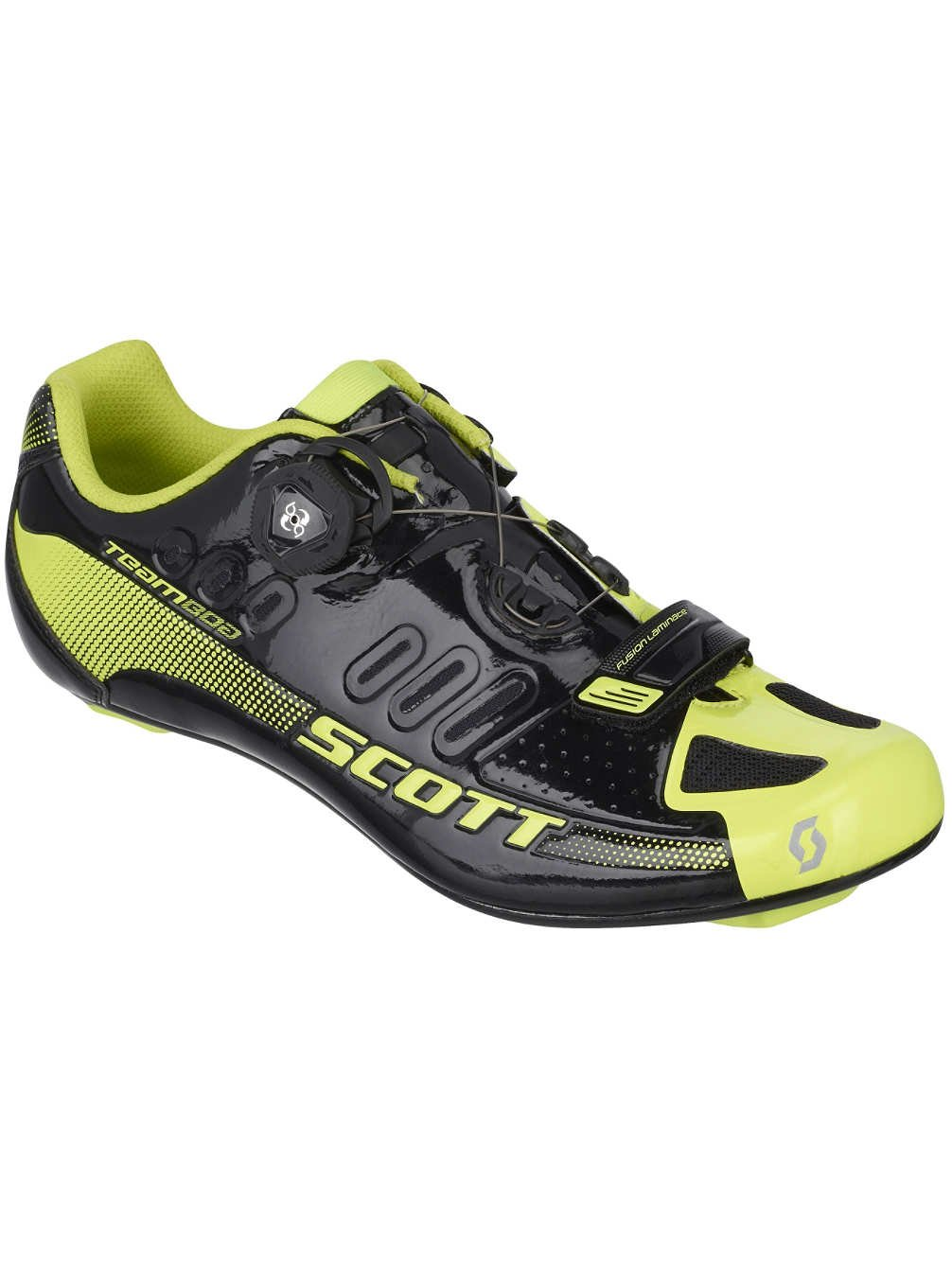 SCOTT スコット SHOE ROAD TEAM BOA black/neonyello 42 シューズ   B014I90UX0