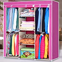 Generic New Large Portable Closet Storage Organizer Wardrobe Clothes Rack with Shelves