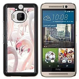 Stuss Case / Funda Carcasa protectora - Flamingos lago de agua Aves Pico - HTC One M9Plus M9+ M9 Plus