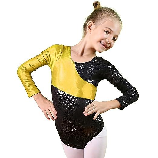5406e9906874 Amazon.com  BAOHULU Gymnastics Leotards for Little Girls Stiching ...