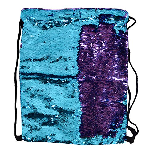 LABANCA Sequin Sackpack Drawstring Backpack Casual Outdoor Daypack Leisure