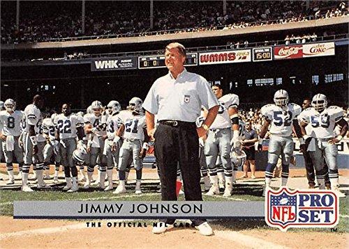 Jimmy Johnson football card (Dallas Cowboys Super Bowl Champion Coach) 1992 Pro Set - Bowl Cowboys Dallas Super 1992