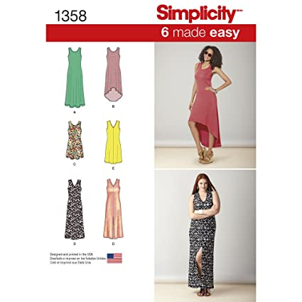 Amazon.com: Simplicity Creative Sewing Pattern S0684 / 1358 Misses ...