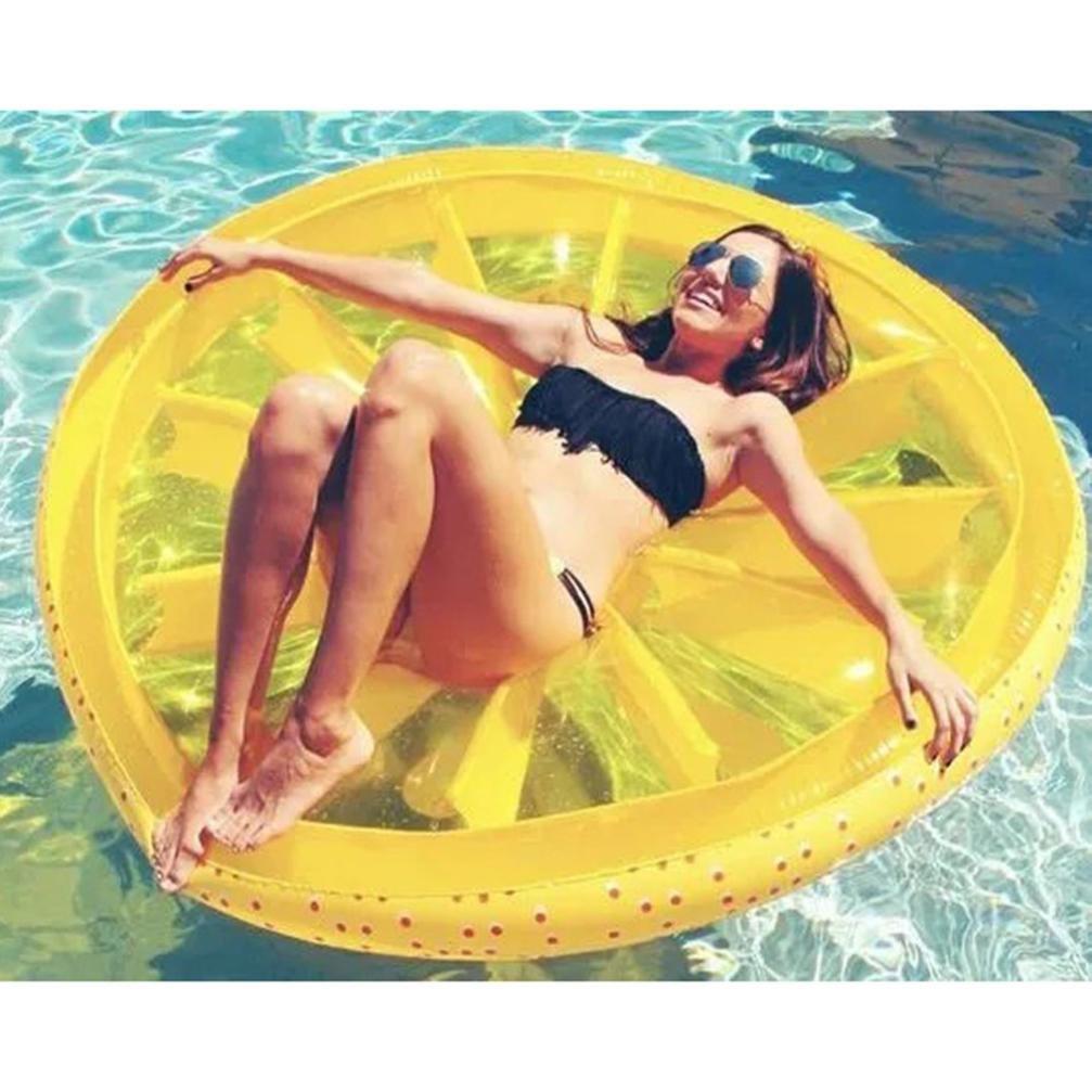 Artistic9 Silla hinchable gigante de sandía de limón para salón/piscina flotante/suero de agua de rato de playa bola de lago río flotador juguete de agua, ...