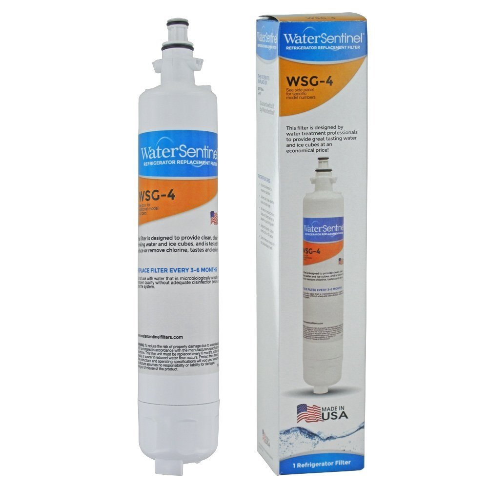 WaterSentinel WSG-4 Made in USA Refrigerator Replacement Filter: Fits GE RPWF by WaterSentinel