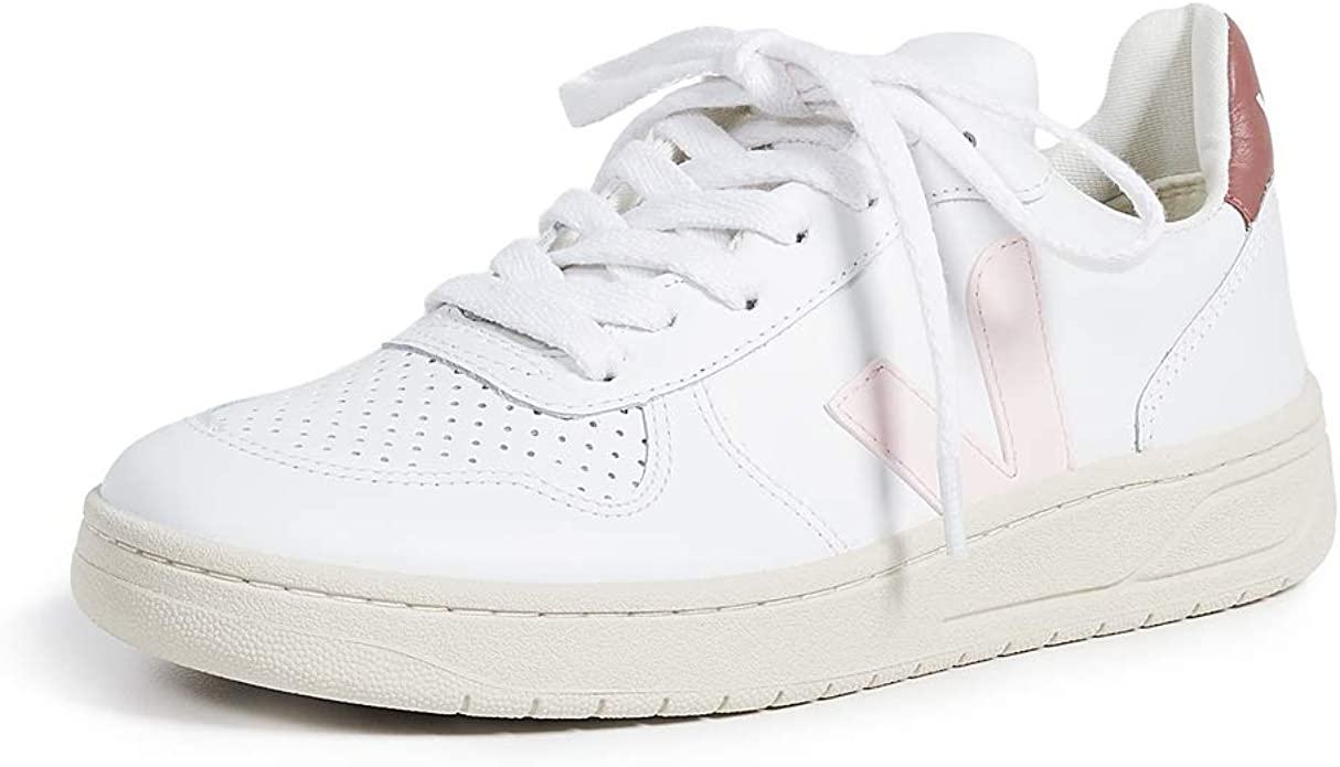 este Comienzo altura  Veja V10 Leather Trainers White 4 UK: Amazon.co.uk: Shoes & Bags