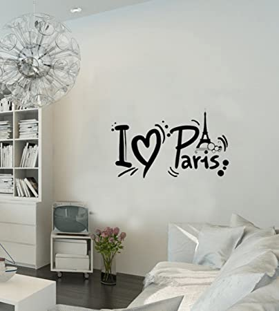 Amazing Paris Wall Decal French France Paris Eiffel Tower Paris Inspirational Wall  Sticker Quotes Wall Decorations Décor