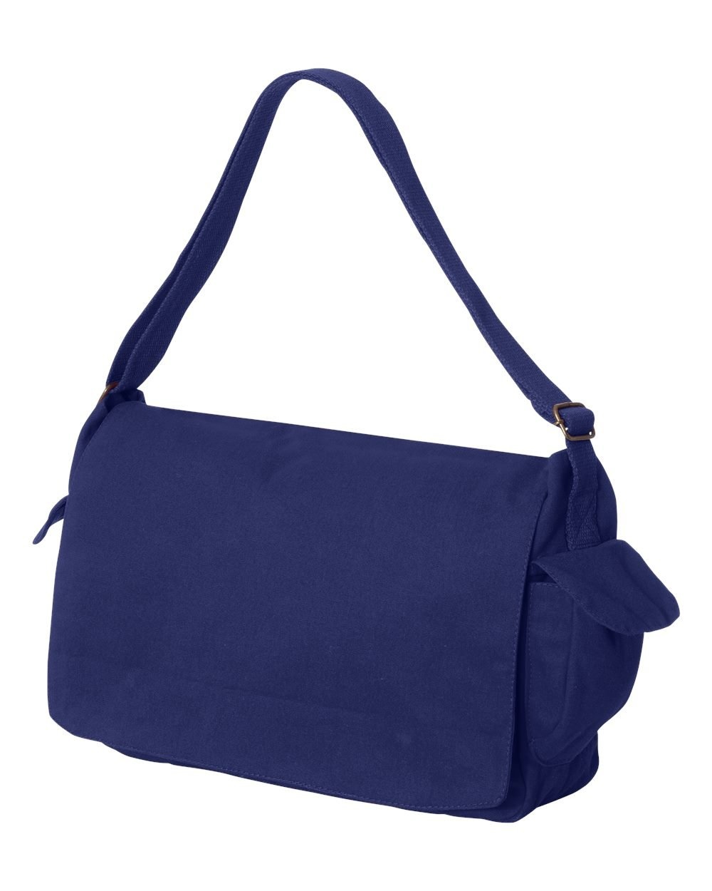 Tenacitee Born in 1949 - Aged Like a Fine Wine Royal Blue Brushed Canvas Messenger Bag by Tenacitee (Image #2)