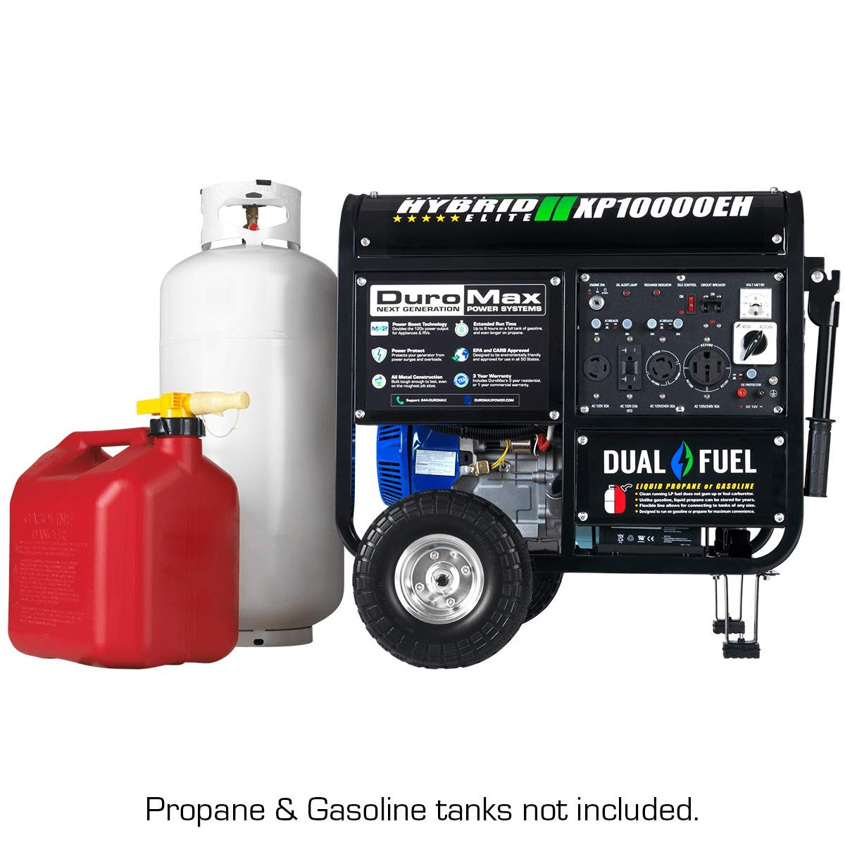 Duromax XP10000EH 10000 Watt Dual Fuel Hybrid Generator W Elec. Start on
