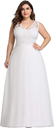 Ever-Pretty Plus White Wedding Gown Lace Celebrity Dress Mother Of Bride 07624