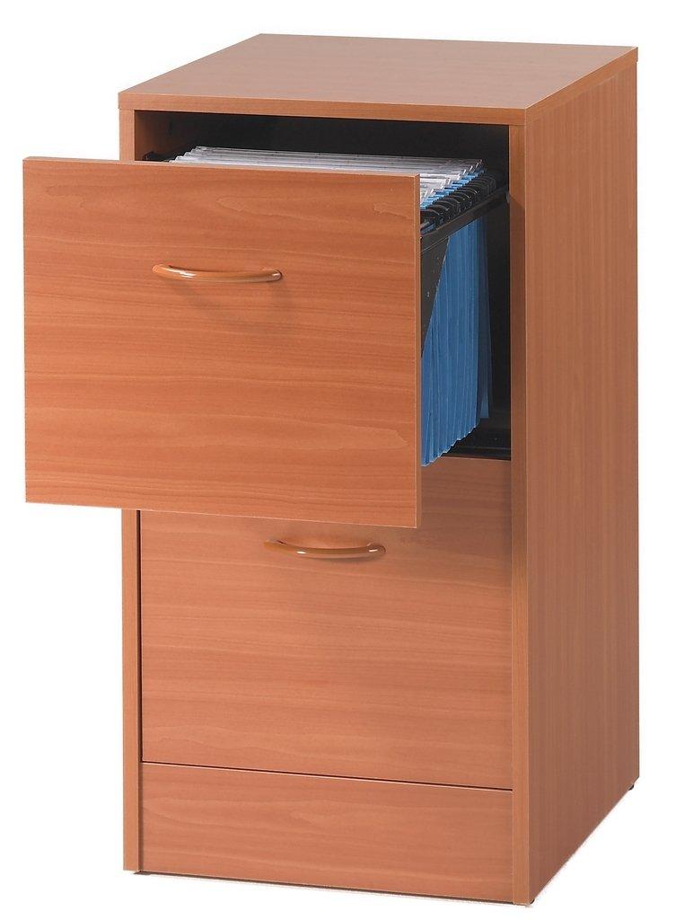SIMMOB MATHA412MK-Classificatore a 2 cassetti per cartelle sospese, in Legno di ciliegio, Dimensioni: 44 x 76,40 x 41,4 cm
