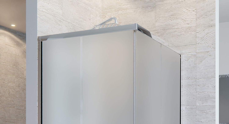 Box Doccia Angolare 70x70 cm 2 Ante Scorrevoli in Cristallo Opaco 6mm H195 OL Docce Adry