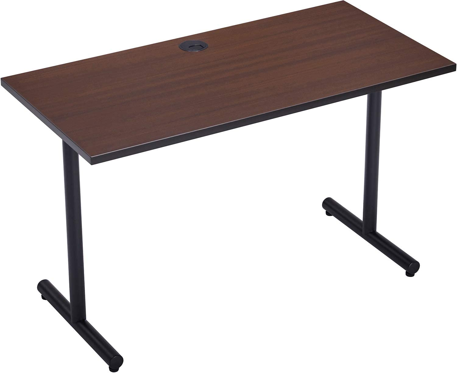 """Desks for Home Office 47 inch Computer Desk,Modern Study Writing Table, 0.98"""" Thicker Tabletop Study Desk, Coffee"""