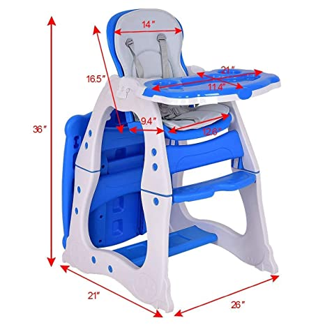 Amazon.com: ASdf Baby Doll Furniture 3 in 1 Baby High Chair Desktop Convertible Game Table Baby High Chair (Color : Pink): Kitchen & Dining