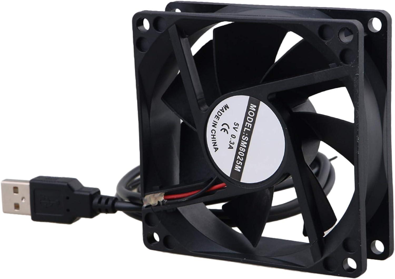 BQLZR 8 CM 8025 USB Power Ball Bearing Computer Case ventilador de refrigeración 5 V 1300 RPM
