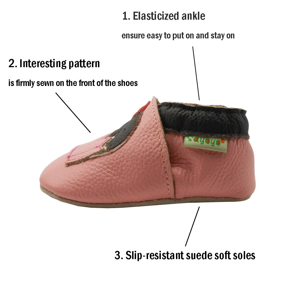 Sayoyo Baby Cute Cake Soft Soled Leather Baby Shoes Baby Moccasins
