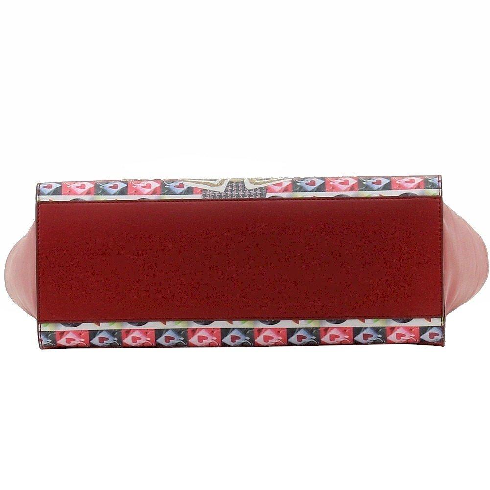 Love Moschino Women's Red Digital Print Double Handle Tote Handbag by Love Moschino (Image #4)
