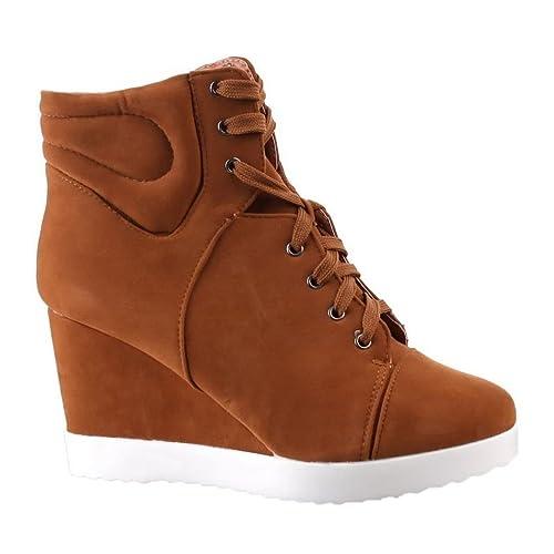 Zapatillas deportivas de mujer color camel 38 (Q9916) QwK2A