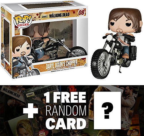 Daryl Dixon's Chopper: Funko POP! x Walking Dead Vinyl Figure + 1 FREE Official Walking Dead Trading Card Bundle [47139]]()