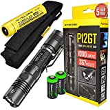 Bundle: NITECORE P12GT 1000 Lumen CREE LED 350 yards long throw tactical flashlight with Nitecore...