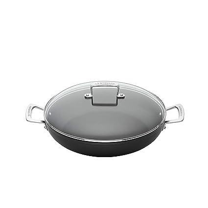 Le Creuset Cacerola de aluminio antiadherente con tapa, Ø 28 cm, libre de PFOA, para todas las fuentes de calor, incluso la inducción, ...