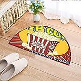 Carpet Floor mat Bath mat Door mat Vintage Grunge Style Pop Corn Commercial Print Old Fashioned Cinema Movie Film Snack Water-Absorbing Floor mat Anti-Slip mat W31 x H20 INCH